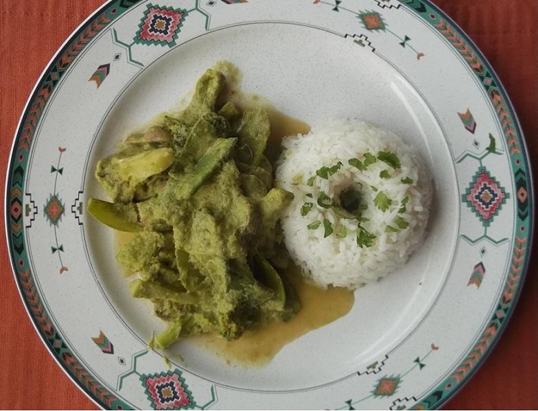 Curry verde con vegetales